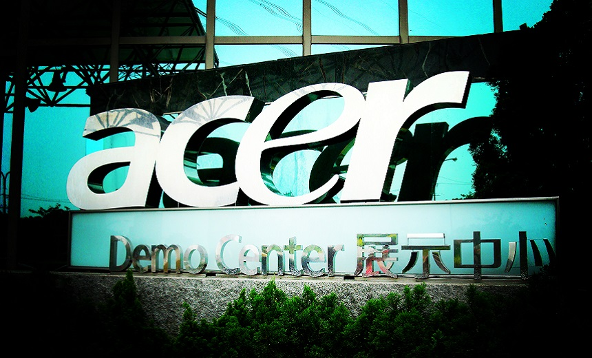 Acer Reportedly Targeted by Ransomware Gang
