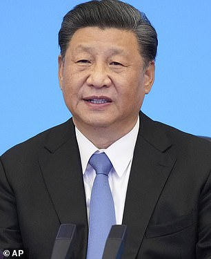 China has in the past denied any involvement with hacking US companies, including a recent hack of Microsoft systems in January this year (Chinese President Xi Jinping pictured on July 6)